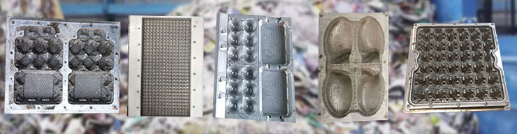 Different molds of pulp moulding machine