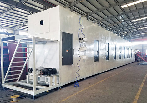 drying system for egg tray machine