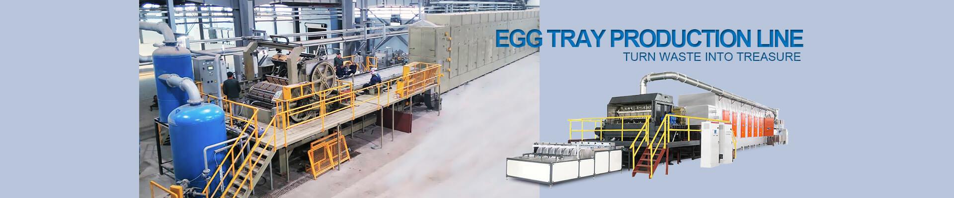 India customers visit egg tray machine