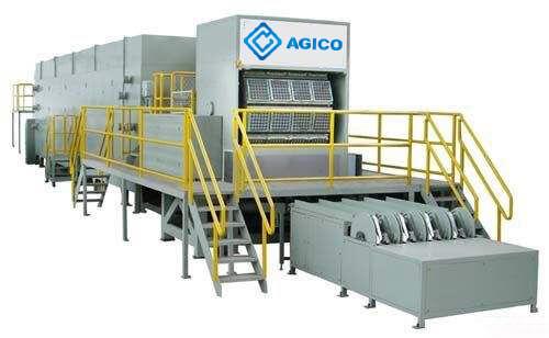 1000pcs-6000pcs egg tray production line